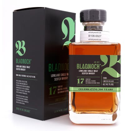 Bladnoch 17 Jahre Californian Red Wine Expression  0,70 Liter/ 46.7% vol