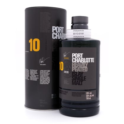 Bruichladdich Port Charlotte Scottish Barley 10 Jahre Heavily Peated 50.00% 0,70l Produktbild