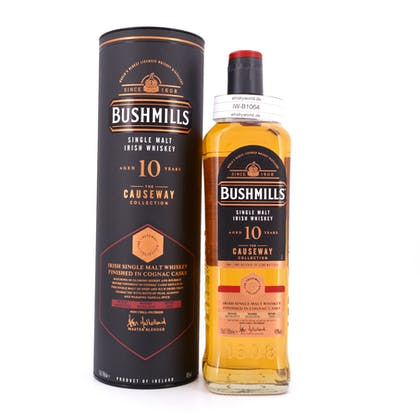Bushmills 10 Jahre Finished in Cognac Casks Single Malt 0,70 Liter/ 46.0% vol