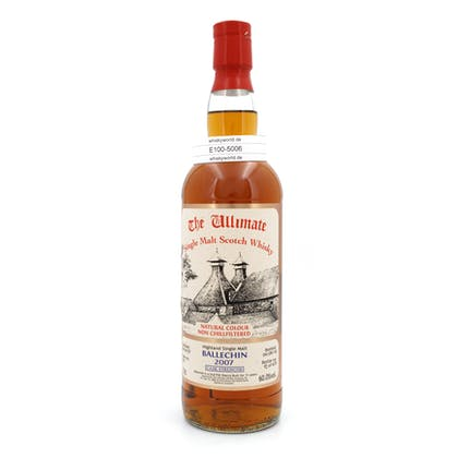 Edradour Jahrgang 2007 11 Jahre The Ultimate Single Cask Abfüllung Cask strength refill Sherry Butt 0,70 Liter/ 60.00% Vol