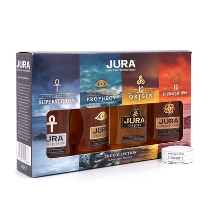 Isle of Jura The Collection II Miniaturen 4 x 0,05l 10 & 16 Jahre je 40%Vol. Superstition 43%Vol & Prophey 46%Vol. 0,20 Liter/ 42.25% Vol