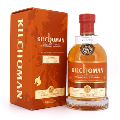 Kilchoman Germany Small Batch No.1 70% Bourbon / 5% Sherry / 25% Port casks 0,70 Liter/ 48.9% vol