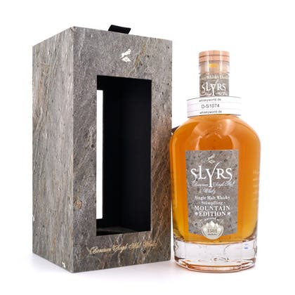 Slyrs Stümpfling Mountain Edition Single Malt Flasche mit Echtstein Applikation 0,70 Liter/ 50.1% vol