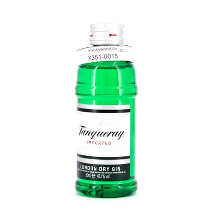 Tanqueray London Dry Gin Imported Miniatur (PET-Flasche) 0,050 Liter/ 43.10% Vol